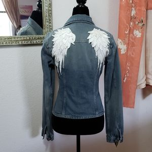 United Colors of Benetton Denim jacket w/wings xs
